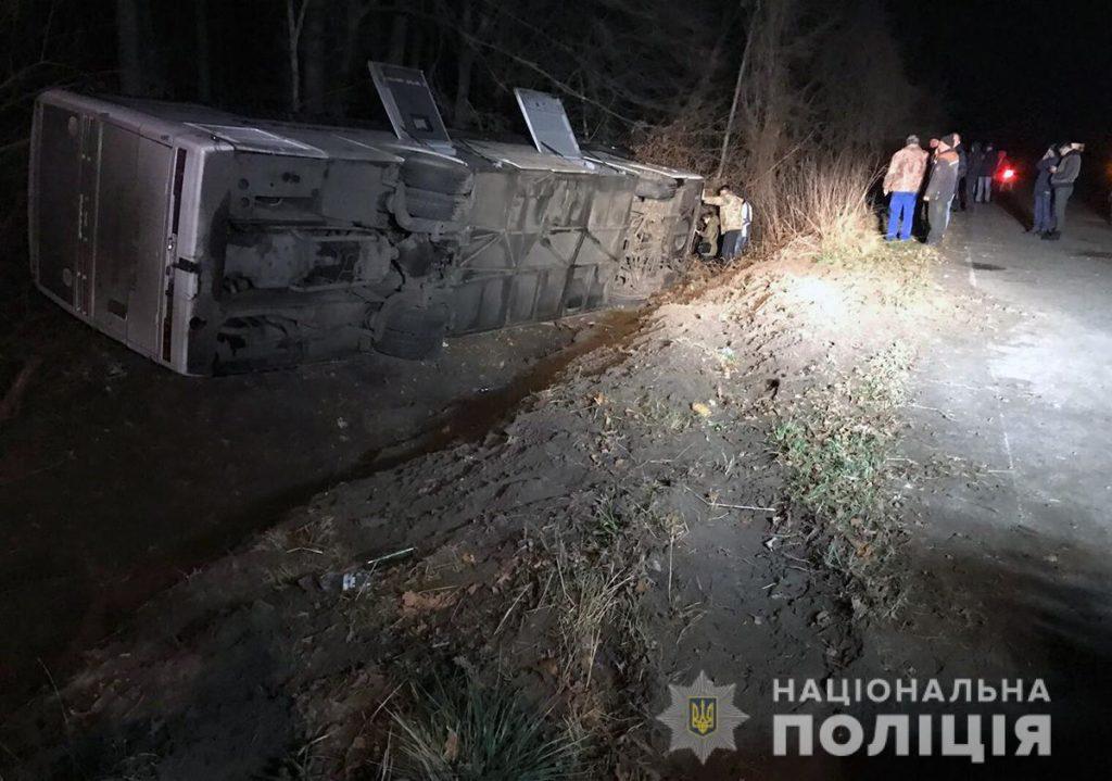 На Житомирщині міжнародний автобус з пасажирами потрапив у ДТП